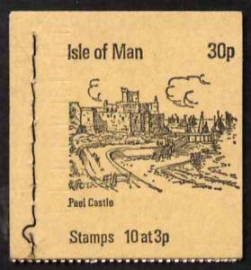 Booklet - Isle of Man 1973 Peel Castle 30p booklet (buff ...