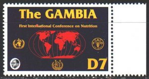 Gambia. 1993. 1470. Rome Nutrition Conference. MNH.