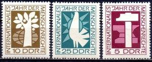 GDR. 1968. 1368-70. Human rights. MNH.