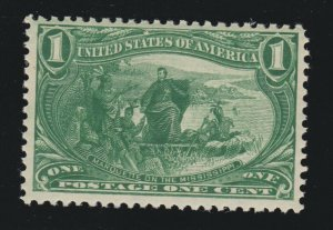 US 285 1c Trans-Mississippi Mint VF OG NH SCV $82.50