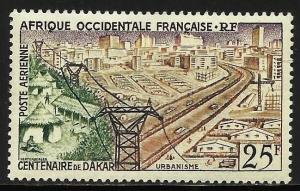 French West Africa Air Mail 1958 Scott# C24 MH