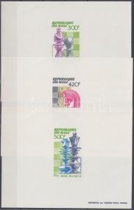Mali stamp Chess de luxe block set MNH 1983 Mi 977-979 WS128682