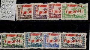 Lebanon 189-196 Set Mint Hinged