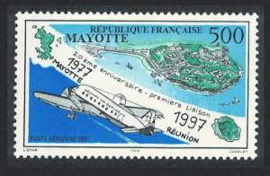 Mayotte 20th Anniversary of First Mayotte-Reunion Air Flight SG#74
