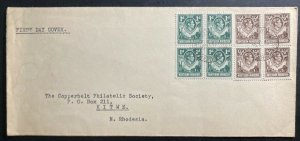 1951 Kitwe Northern Rhodesia First Day Cover FDC Locally Used Sc#26