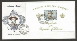 1961 Boy Scouts Liberia SS FDC Imperf