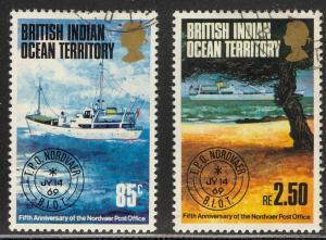 British Indian Ocean Territory BIOT 57-58 used Nordvaer Post