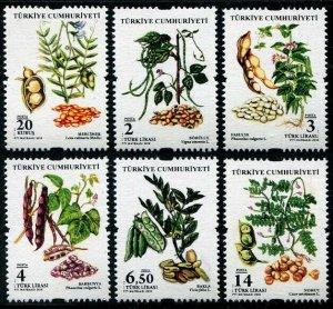 HERRICKSTAMP NEW ISSUES TURKEY Sc.# 3581-86 Legumes