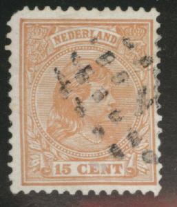 Netherlands Scott 45a Orange Brown used 1894 issue CV$5.50