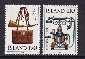 Iceland   #515-516  MNH  1979 Europa postal history telephone post horn
