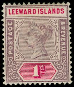 LEEWARD ISLANDS SG2, 1d dull mauve & rose, M MINT.