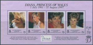 South Georgia 1998 SG278 Princess Diana MS MNH