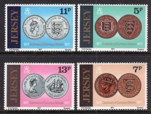Jersey MNH 171-4 Coins Currency Reform 1977