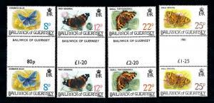 [98678] Guernsey 1981 Insects Butterflies Gutterpairs MNH