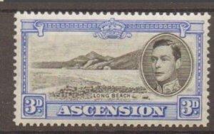 ASCENSION SG42 1938 3d BLACK & ULTRAMARINE MTD MINT