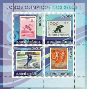 SAO TOME E PRINCIPE 2008 SHEET OLYMPIC GAMES STAMPS ON STAMPS SPORTS st8211