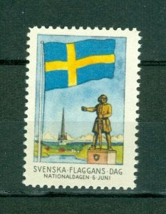Sweden Poster Stamp Mnh.1945. National Day June 6. Swedish Flag.