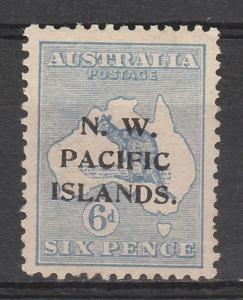 NWPI NEW GUINEA 1915 KANGAROO 6D 1ST WMK TYPE A