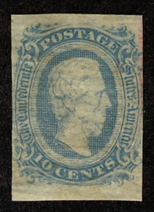 US #CONFEDERATE US #11 VF mint never hinged, four nice margins, usual dry gum...