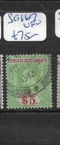 MALAYA STRAITS SETTLEMENTS  (P1206B)  KE $5.00   SG 167    VFU