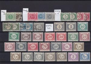 BELGIUM POSTAGE DUES MOUNTED MINT AND USED  REF R 2849