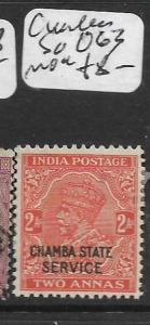 INDIA CHAMBA   (P0307B) KGV 2A SERVICE  SG 063   MOG