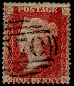 SG40, 1d rose-red PLATE 39, LC14, FINE USED. Cat £25. GK