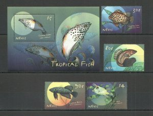 QF1626 NEVIS FAUNA MARINE LIFE TROPICAL FISH 1BL+1SET FIX