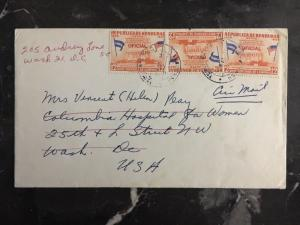 1963 US Embassy In Tegucigalpa Honduras Diplomatic Cover To Washington Dc USA