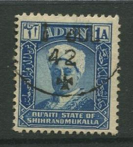 STAMP STATION PERTH Shihr & Mukalla #3  Definitive Issue 1942 FU  CV$1.00