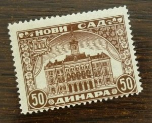 Yugoslavia Serbia NOVI SAD Local Revenue Stamp 50 Dinara  CX52