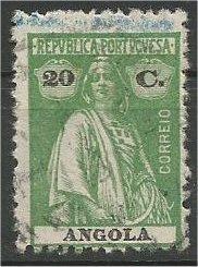 ANGOLA, 1914, used 20c Ceres Scott 140