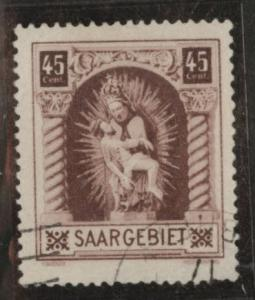 Saar Scott 118 used from 1925 Madonna stamp
