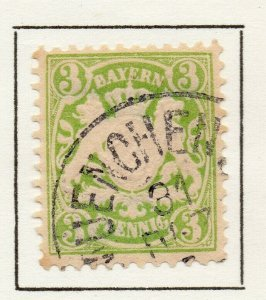 Bayern Bavaria 1881 Early Issue Fine Used 3pf. NW-120718