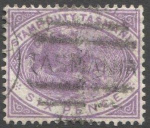 TASMANIA Australia 1880 Sc AR30  6d Platypus  Used VF, cv $21