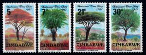[66235] Zimbabwe 1981 Flora Trees Baumen  MNH
