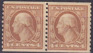 US #495 MNH Pair CV $50.00  (Z4456)