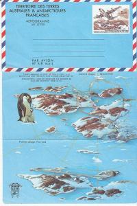 French Southern & Antarctic Territories Aerogram Unused