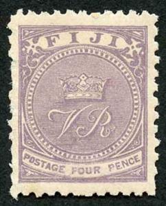Fiji SG54 4d Pale Mauve Perf 11 x 10 M/Mint