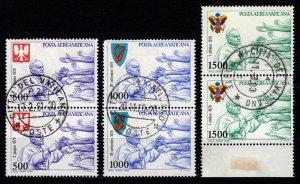 Vatican City 1980 Air Mail, Pope John Paul II's Journeys, Pairs Part Set...