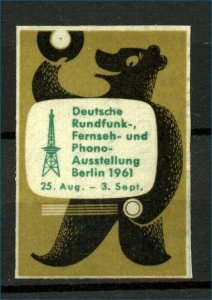 Germany 1961 Berlin Record Exhibition Label