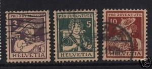 Switzerland #B4 - #B6 VF Used Set