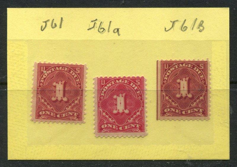 J61, J61a, J61b Postage due Mint OGNH ⭐⭐⭐⭐⭐⭐⭐⭐⭐⭐⭐⭐