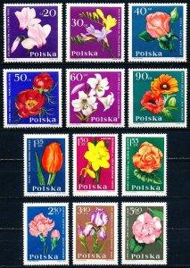 Poland #1279-1290  Set of 12 MNH