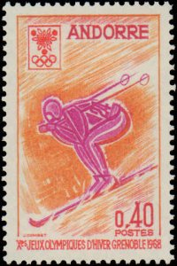 Andorra French Administration #181, Complete Set, 1968, Sports, Never Hinged