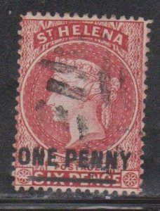 ST HELENA Scott # 35 Used - Queen Victoria With Surcharge