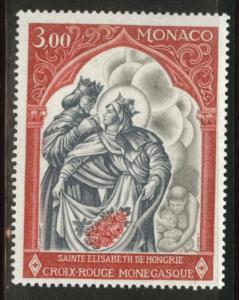 MONACO Scott 721 MNH** St Elizabeth  1969  stamp