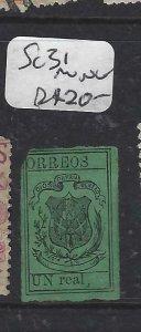 DOMINICAN REPUBLIC (P2606B)  SC 31 MNG UL CORNER