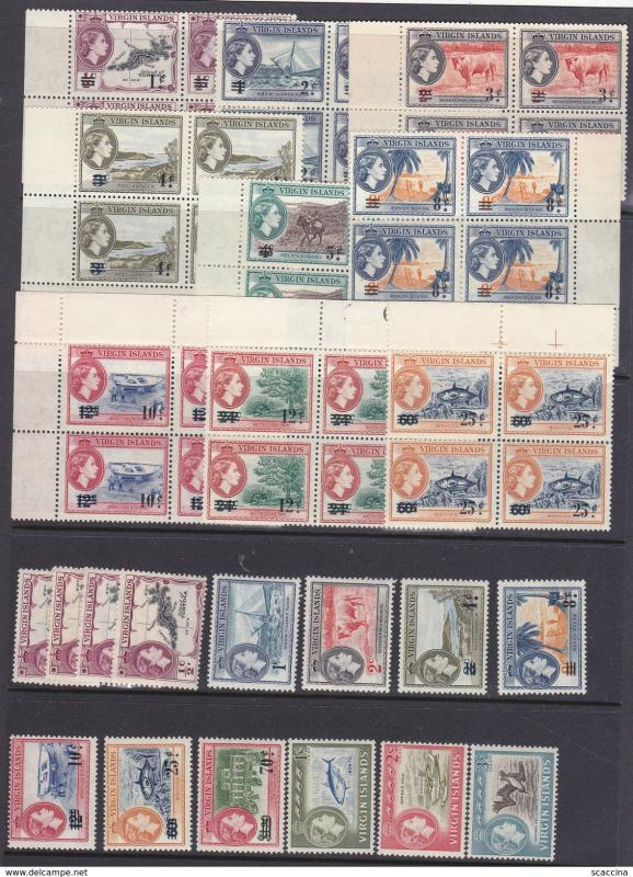 BRITISH VIRGIN ISLANDS 1956-75 lot 6 scan MNH hcv