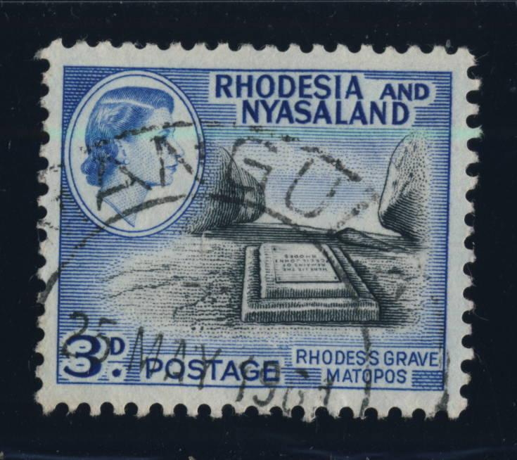 RHODESIA & NYASALAND - 1961 - SG 22 CANCELLED KANGULA DOUBLE CIRCLE DS